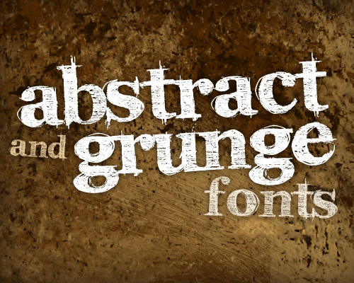 100 Amazing Free Abstract and Grunge Fonts
