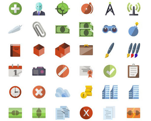 55+ Beautiful Free Flat Icon Sets for Designers