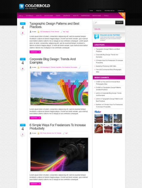 15 Fresh and Colourful Free WordPress Responsive Themes