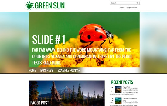 20 Beautiful and Free WordPress Themes 2014