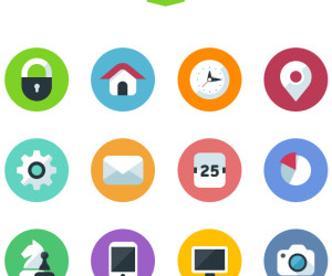 22+ Excellent Free Flat Icon Sets
