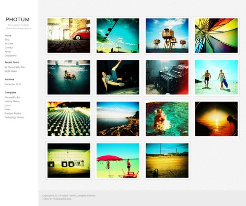 24+ Fresh and Clean Responsive Photography WordPress Templates