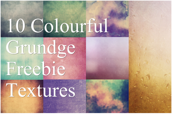Colouful grunge Textures