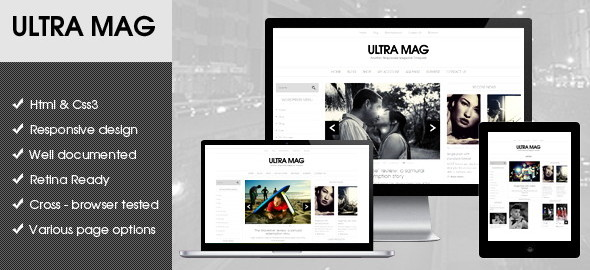 WordPress Flat Magazine Templates