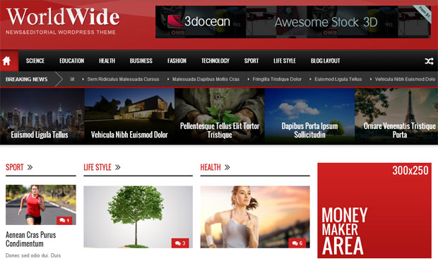 WordPress News, Magazine, Editorial Themes